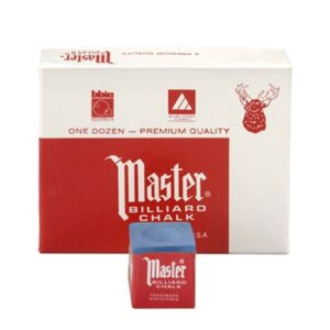 Master Blue Square Pool Cue Tip Chalk